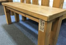 Benches. / Benches in oak, Pine and Painted woods. All bespoke and made for each customer