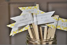 Wedding Colors - Yellow and Grey / by invitesbyjen