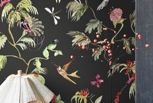 "DFL's wallpaper collection ""Volume I"" / The smart combination of bold playful wildlife designs and contemporary graphical patterns is what makes this wallpaper collection unique.  The small modern prints are based on natural elements and structures such as tree bark, bird's nests, linen and animal prints. The combination of designs give room for endless mixing and matching in an up to date colour scheme."