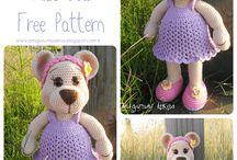 Crochet teddys, dolls and likes / Teddys, dolls and other stuffed crochet animals