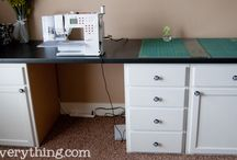 office & craft desk / by Emily Roller