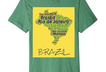 I Love Brazil T-Shirts / For all those that are from Brasil or Brazil I've created many beautiful custom t-shirts to help you show your pride and love for Brazil.
