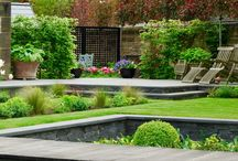Award-winning Merchiston Garden, Edinburgh / This Edinburgh garden won a Principal BALI award in December 2016.  The judge commented, 'The planting in the front garden is exquisite and the colour palette spot on.  To the rear, the large lawn area contains a beautiful sunken garden with a rill. Overall, the scheme is totally in keeping with the period of the house and is faultless as a piece of landscape construction.'  The garden was designed by Carolyn Grohmann and built by Water Gems.
