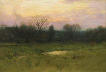 Charles Warren Eaton / cuadros al óleo de paisajes del artista norteamericano Charles Warren Eaton.