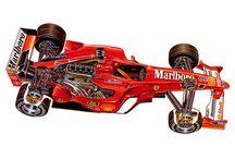 Ferrari cutaways