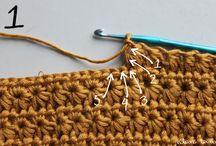 crochet and knit, stitches, tutorials