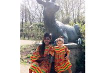 Mother daughter Styles / African material mother daughter styles, Ghanaian Fabric for mother and daughter