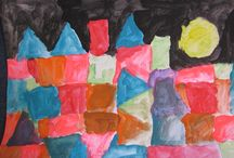 Year 2 is Inspired by Paul Klee / Riots of colour on canvas