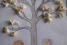 Patlamış Mısır İle İlkbahar Ağacı