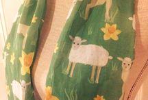ELE Scarves in Springtime print / A range of 100% cotton voile scarves in custom springtime print from ELE designs.