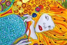 Klimt- kunstlessen beeldend voor kinderen / ideeën en inspiratie voor ouders en leerkrachten. Doe hier ideeën op om thuis of op school aan de slag te gaan! Mevrouw Merel inspireert graag kinderen, ouders en leerkrachten.