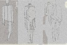 Jeans ilustração / A idéia das peças é trabalhada todas com a ausencia de cor, usado somente com tons de branco, pasteis acinzentados ou violeta.