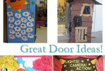 bulletin boards/doors