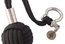 Monkey Fist Keychain / These handmade monkey fist keychains are the ideal way to prevent accidental loss of your keys and always being prepared for the unexpected!
