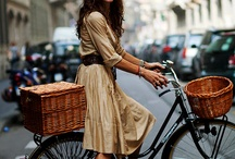 everyone can ride a bike! / stylish people riding their bikes!