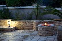 Inspirational Fire- Places and Pits / Some great ideas for outdoor and patio entertainment areas. (Design and Layout by Craig de Necker of The Friendly Plant using Colonial Stone products)