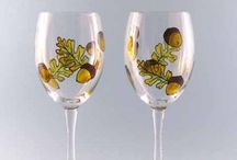 Hand Painted Wine Glasses / A collection of my favorite wine glass designs.