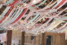 Streamer ribbon canopy / Ideas for overhead