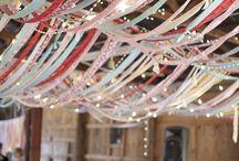 Streamer ribbon canopy / Ideas for overhead