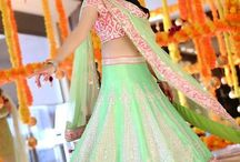 Bridal Outfits / From the time you get engaged till the wedding reception, every occasion hold prior importance. Here are different outfits you can choose for all the ceremonies that go on to make you a perfect bride.