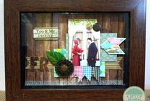 scrapbook / scrapbook in frame