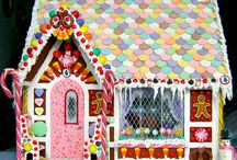Gingerbread Houses / Not the kind of houses we sell -we hope you are inspired and delighted by the yummy and beautiful holiday houses