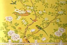 De Gournay hand painted wall paper