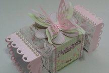 Moldes caixas papel