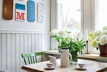 Machimbre pintado cocina