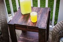 pallet side table project
