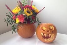 Autumnal flowers and arrangements / Beautiful autumnal colours with flowers by Blooms of Baldock