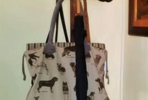 TRAVEL-BAG / FOR ANIMAL LOVERS - beautiful hand-crafted Big Travel-bag 44 x 36 x 27 cm  Zip bag on inside