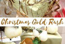 Christmas Gold Rush / Make your holidays sparkle and shine this season with these creative ideas and gold themed packaging.
