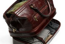 Leather duffle bag / Leather duffle bag