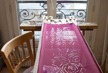 Lesage e outros bordados / Tambour beading embroidery.