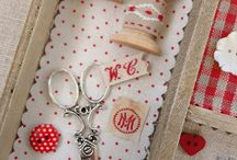 ✄ Sewing time: Tela , aguja , hilo e tijeras