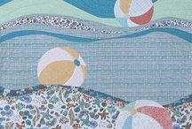 Making Waves by See How We Sew / This is a quilt made to showcase Kim Andersson's new fabric line with Windham Fabrics, Tidal Lace.