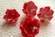 Paper Flowers / It's my hand-made. It's paper flowers for hand-made post-carts. You can to find my works here: http://www.livemaster.ru/myshop/tatasi