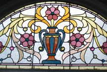 """Napa Antique Stain Glass Windows / La Belle Epoque is graced with some of the most gorgeous stain glass windows dating from the 1880's. Enjoy and come stay at La Belle Epoque, Napa original """"Painted Lady""""."""