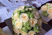 Hochzeit / Beautiful Wedding flower arrangements Hochzeits-Blumen und Bouquets www.blumenmeister.com