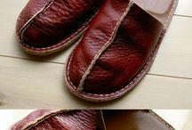 革 スリッパ & 靴