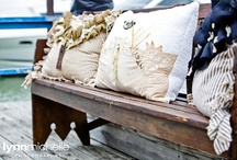 nautical chic  / A chic nautical decor at lake lewisville.