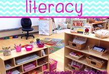 Literacy / ABC center and literacy activity ideas for pre-k or kindergarten.