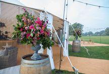 Sperry . Pole Tent . Wedding Florals
