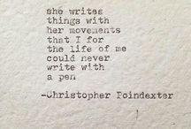 Poetry / Words that speak to me