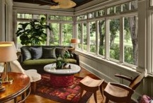 Sunroom, Florida Room, Glass Rooms / These are ideas for an addition to the house with lots of windows.