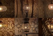 Moroccan Brass, Silver Lighting and Exotic from Badia Design Inc. / Badia Design Inc. has some of the most Exotic Moroccan Brass and Silver Lighting in Los Angeles. We have hanging and tabletop lighting with intricate cutouts that project unique patterns on any flat surface.  Our Moroccan Lighting will add flair and a touch of the Mediterranean to any room they are displayed in and some can be used indoor or out.