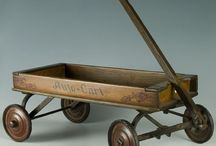 Vintage Toy Pull Carts Wagons