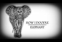 Doodle - elefant
