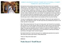Client Kudos from NFL Wedding Designer & Planner Tiffany Cook / Real wedding testimonials from Tiffany Cook clients